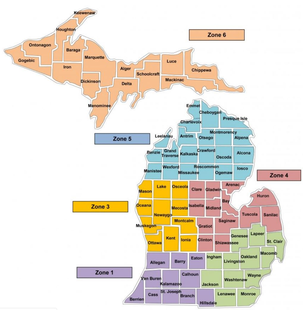 state of michigan map with counties Maps To Print And Play With