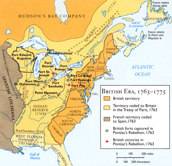 Image result for map of north america after the french and indian war