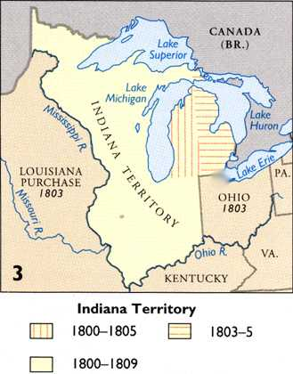 Michigans Boundaries - Map of us territories in 1803