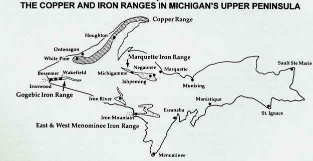 Copper I - Map of where copper is mined from us