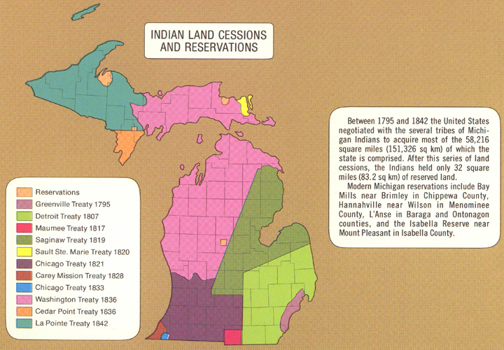 Cessions - Map of us land treaties