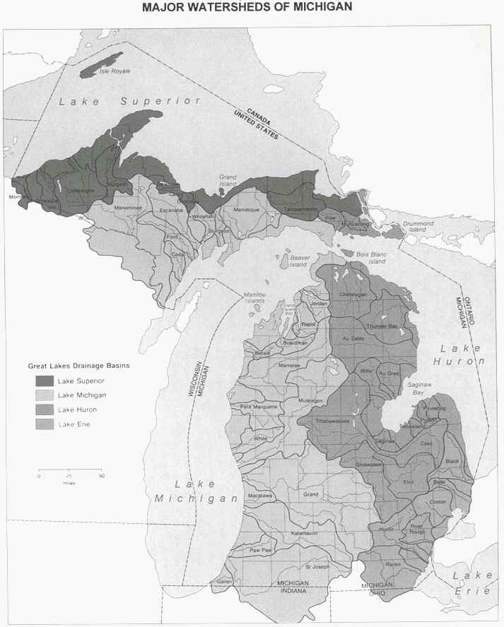 major watersheds of michigan.JPG (134190 bytes)