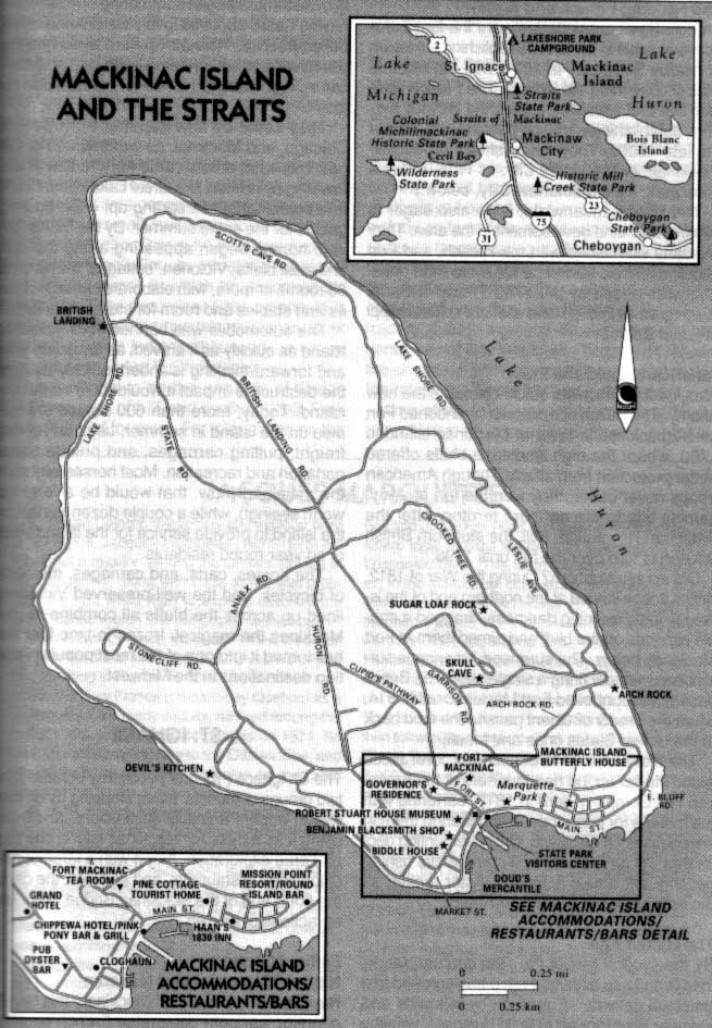 Michilimackinac Island  Map