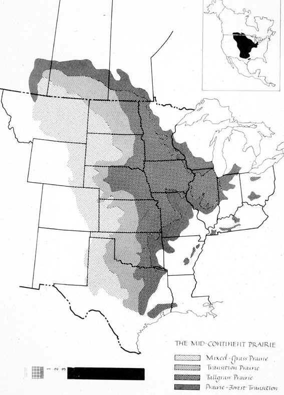 Prairies Where - Original prairie areas in the us map