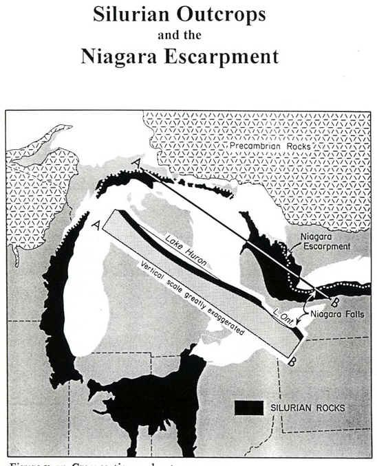 Niagara Escarpment Wisconsin Map.Niagara Escarpment